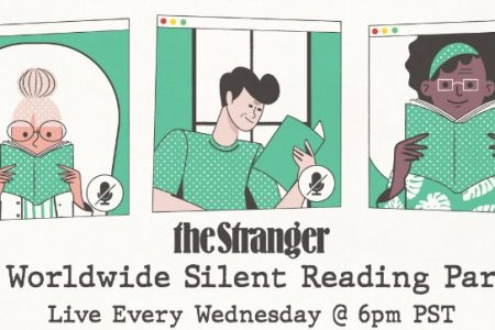 theStranger Silent Reading Party banner
