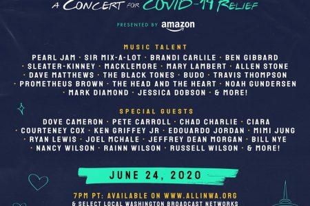 AllinWA concert for relief June 24, 2020