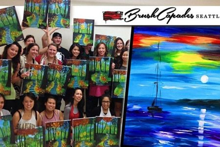 Father's day paint class sunset