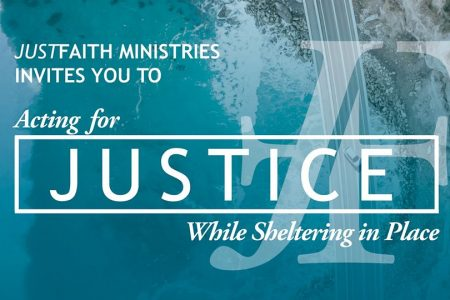 JustFaith Ministries Acting for Justice webinar banner