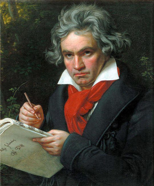 Portrait of Beethoven by Joseph Karl Stieler, 1820 (public domain)