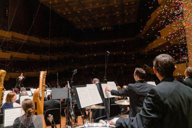 Seattle Symphony orchestra. Photo by Brandon Patoc.