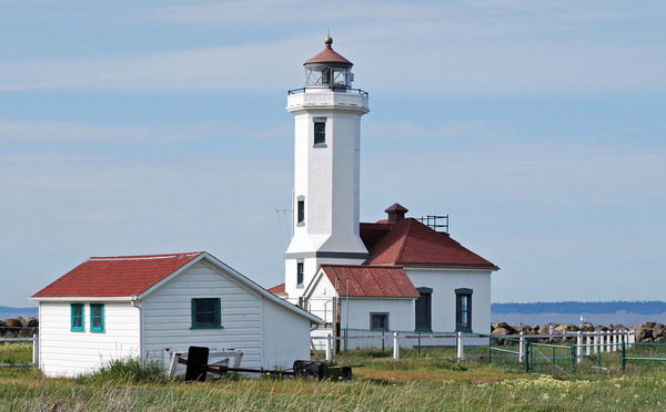 Point Wilson Lighthouse in Fort Warden State Park at Port Townsend, WA