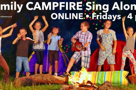 Family Camp Fire Sing along banner