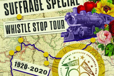 The Washington State Historical Society Suffrage Special Whistle Stop Tour 2020 banner