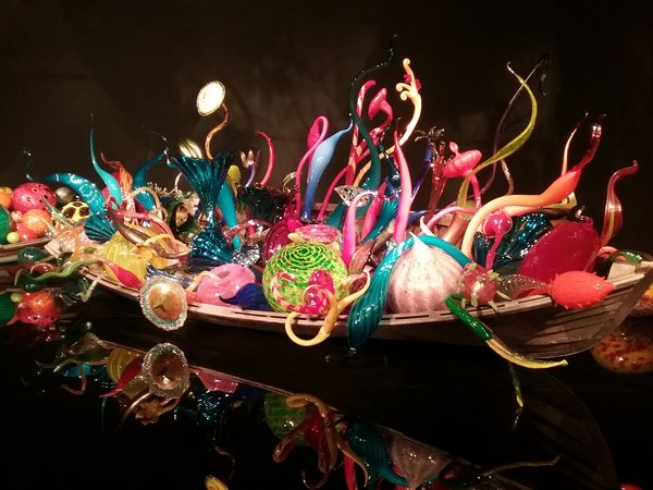 Chihuly Garden and Glass boat exhibit 2018 photo by Carole Cancler