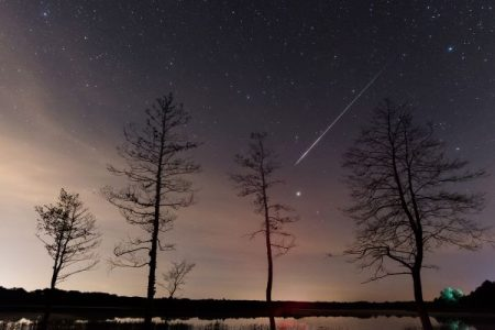 Perseid-meteor-streak-in-the-night-sky