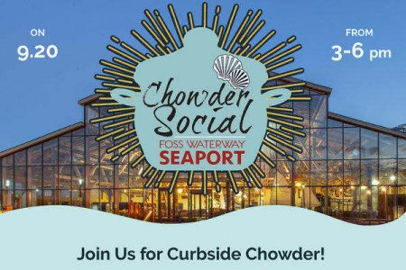 Foss Waterway Seaport chowder social Sept 2020 banner
