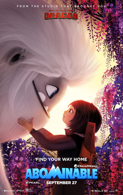 Abominable animated film 2019 poster