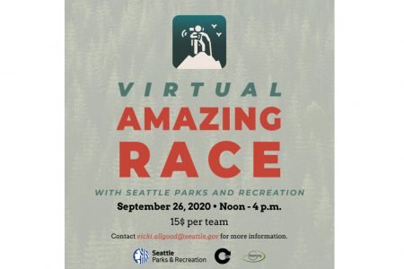 Banner for Seattle Parks Virtual Amazing Race 9-26-2020