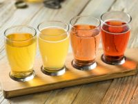 Apple cider tasting flight