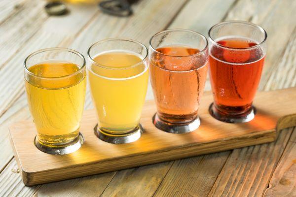 Apple cider tasting flight