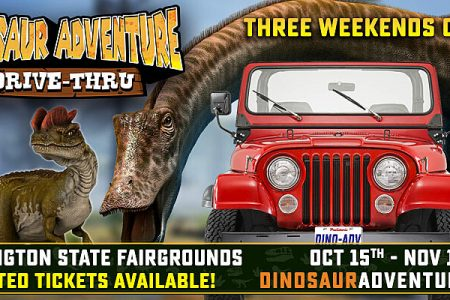 Banner for Dinosaur Adventure Seattle Drive-Thru 2020