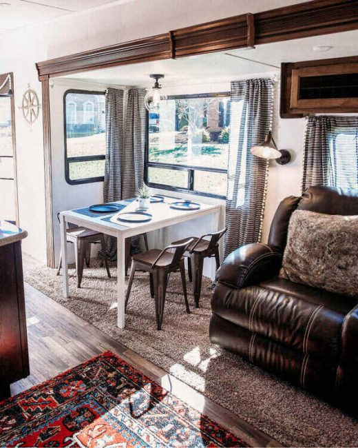 RV interior dining and seating