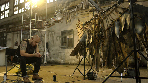 SIFF Cinema artist Maleonn in his Shanghai studio