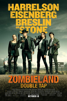 Zombieland Double Tap movie poster 2019