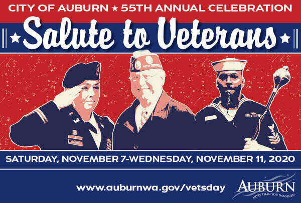 Banner for Auburn Salute to Veterans 2020