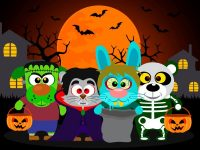 Trick or Treaters cartoon characters