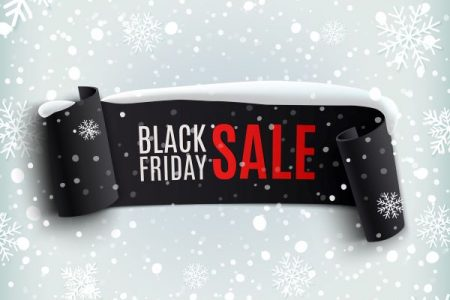 Banner for Black Friday shopping sale