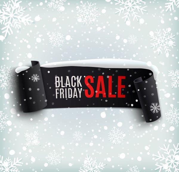 Banner for Black Friday shopping sale