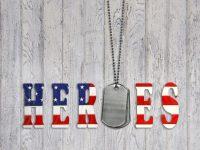 American military heroes banner