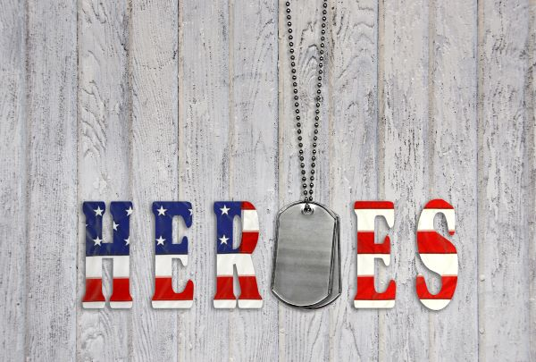 """Military and veterans """"heroes"""" banner"""
