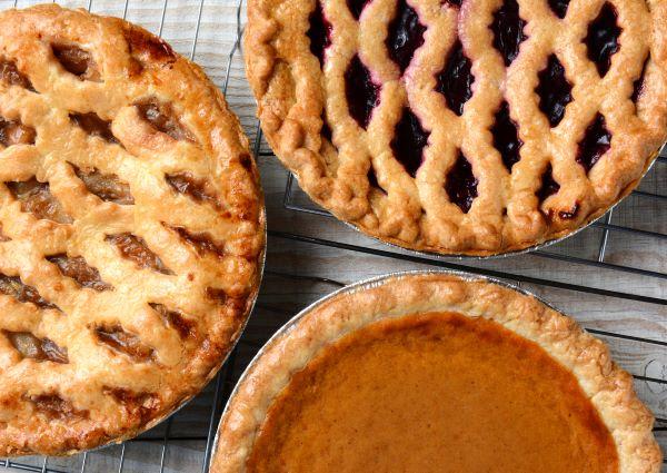 an assortment of homemade pies