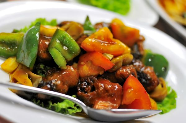 Chinese dish of sweet and sour pork