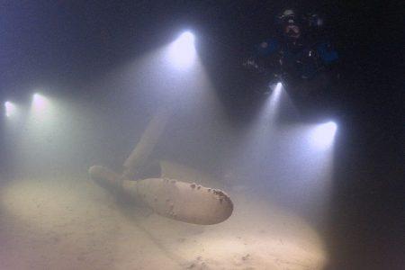 Museum of Flight Martin PBM-5 Mariner underwater in Lake Washington