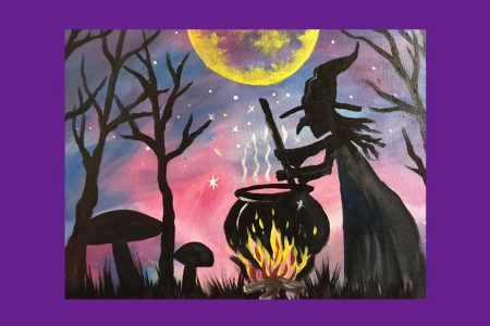 Witchy brew painting by Danielle Rimbert
