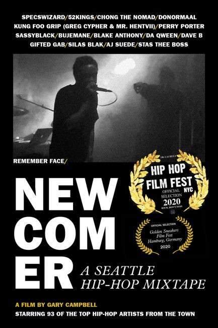 Poster for NEWCOMER A Seattle Hip-Hop Mixtape