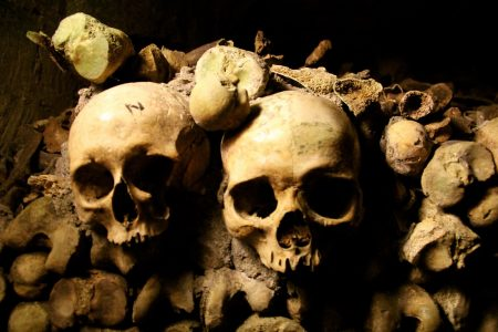 Skulls from Pretty Gritty Tours ghost stories