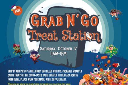 Banner for The Landing in Renton Halloween Grab N' Go Treat Station