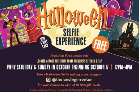 Banner for The Landing in Renton Halloween selfie experience