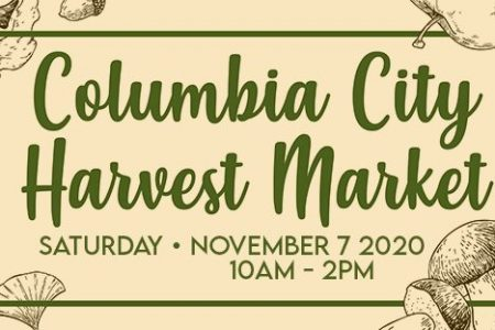 Banner for Columbia City Harvest Market 2020