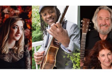 Seattle Folklore Society Concert Nov 21 Iona Fyfe, Eduardo Mendonça, Eric and Suzy Thompson photo by Stefane Felix