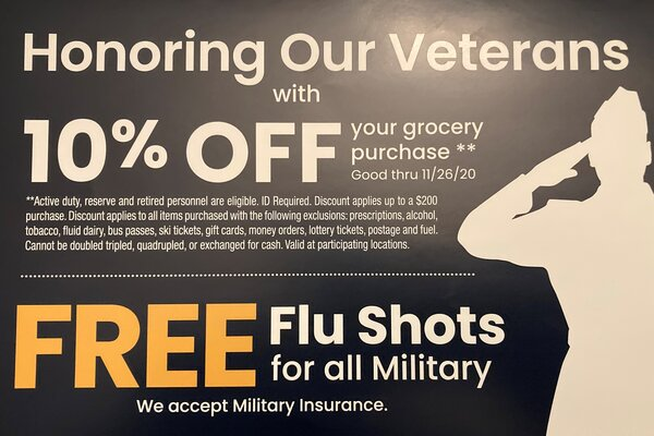 banner for safeway veterans discount