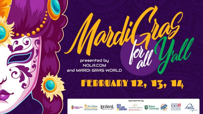 Banner for NOLA.com Mardi Gras for Y'All 2021