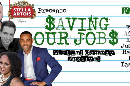 Banner for Stella Artois Save Our Jobs comedy festival
