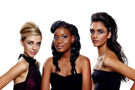 multi-ethnic women with different hairstyles