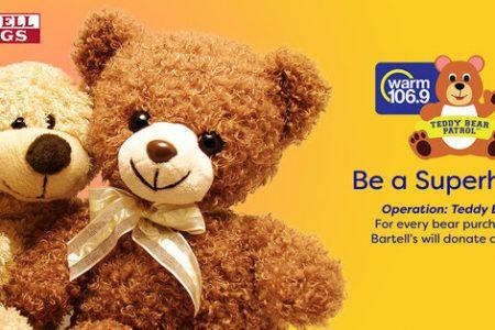 Banner for WARM 106.9 Bartell Drugs Teddy Bear Month
