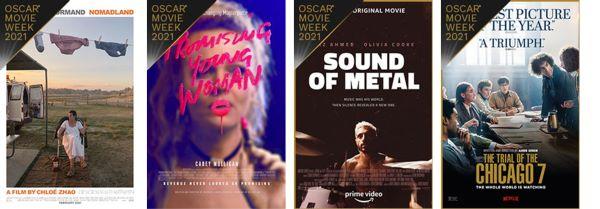 Cinemark Oscar Movie Week 2021 Best Picture posters 5-8