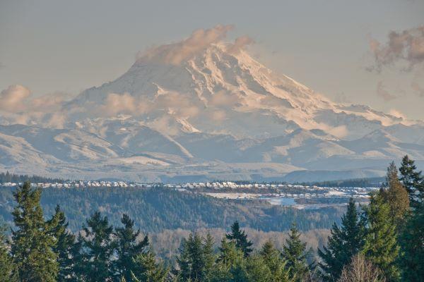 Mount Rainier was taken from Edgewood, Washington