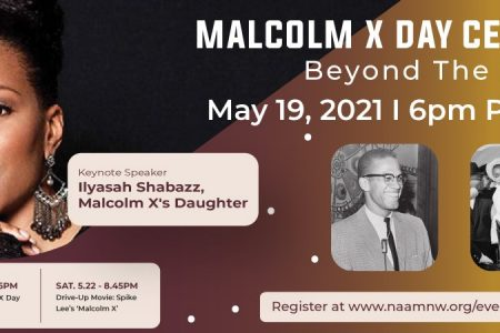 NAAM Malcolm X Day Celebration banner
