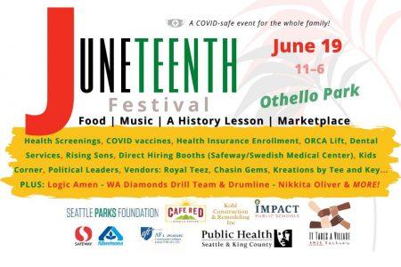 Juneteenth Othello Park 2021 banner
