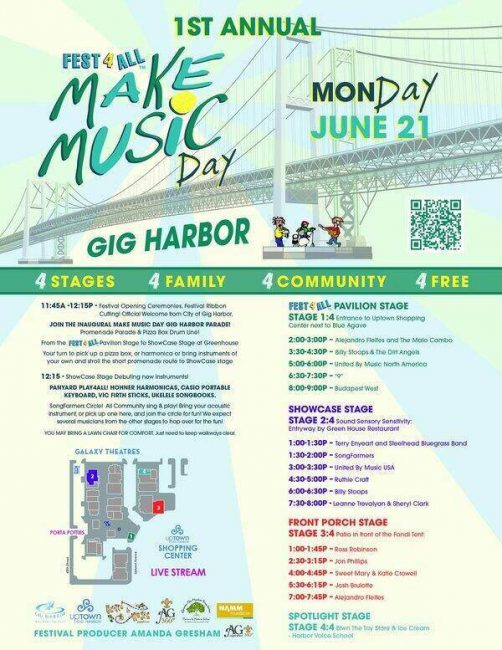 Make Music Day Gig Harbor 2021 banner
