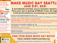 Make Music Day Seattle 2021 event banner