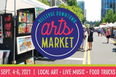 Banner for 2021 Bellevue Downtown Arts Market