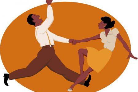couple swing dancing the jitterbug