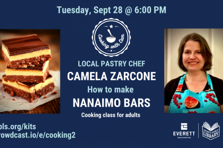 Banner for Cooking with Cam How to make Nanaimo Bars Sept 28 2021